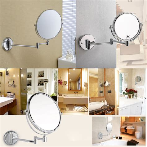 Extending Dual Sided Bathroom Make Up Shaving Wall Mounted