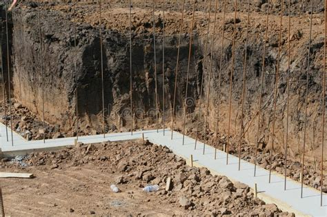 Basement Wall Footing Stock Image Image Of Footer