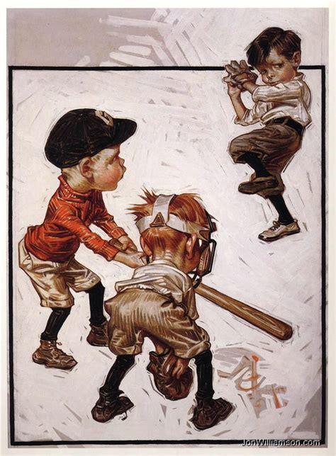 Jc Leyendecker Jc Leyendecker Boys Playing Baseball
