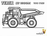 Dump Truck Coloring Pages Construction Garbage Dirty Trucks Colouring Boys Terex Yescoloring Vehicles Kenworth Mt Maxi Freightliner Rock Hard Popular sketch template