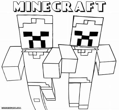Minecraft Coloring Pages Sword Colouring Wolf Printable