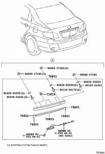 2009 Toyota Corolla Deck Lid Finish Panel  Outside  Super
