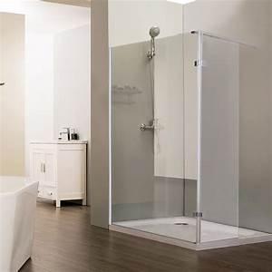 Paroi De Douche : paroi de douche fixe nepta verre 8 mm avec retour 100 40 ~ Melissatoandfro.com Idées de Décoration