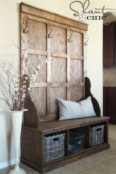 Entrance Bench by Shanty Tree Bench For The Entryway Hometalk