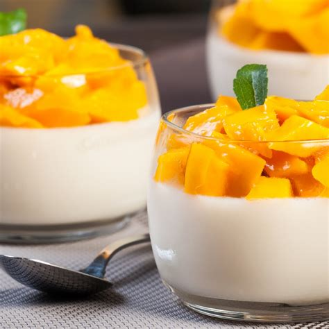 light dessert recipes this mango panna cotta recipe is and easy to make this light dessert is