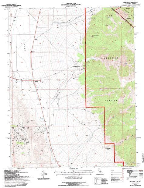 Benton Topographic Map Ca Nv Usgs Topo Quad 37118g4