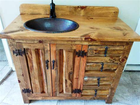 Rustic Bathroom Vanity Copper Sink Rustic Sink