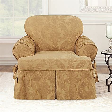 t cushion chair slipcovers sure fit matelasse damask t cushion chair slipcover bed