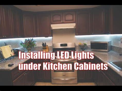 Installing Led Lights Under Kitchen Cabinets  Youtube