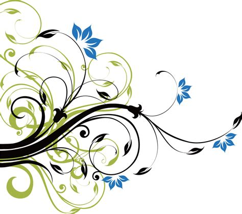 swirl floral decoration  vector
