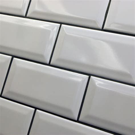 mini metro bevel brick wall tile by fabresa ceramic planet