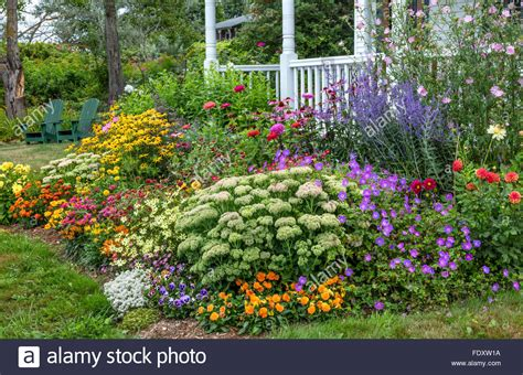 Bass Harbor, Maine Summer Cottage Garden And Covered