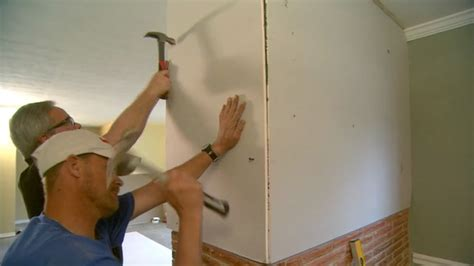 hanging drywall on ceiling plaster how to hang drywall on a brick wall today s homeowner