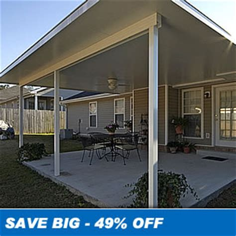 insulated aluminum patio covers sale save 20 10 x