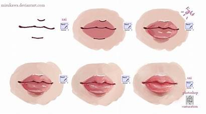 Lips Drawing Draw Tutorial Mouth Lip Paint