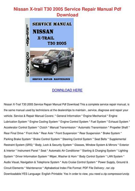 nissan  trail   service repair manual  amywicker issuu