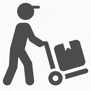 Boy, courier, delivery, hand truck, logistics, man ...