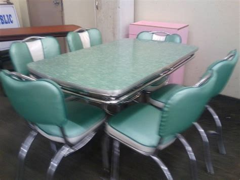 chrome table and chairs chrome vintage 1950 39 s formica kitchen table and chairs ebay