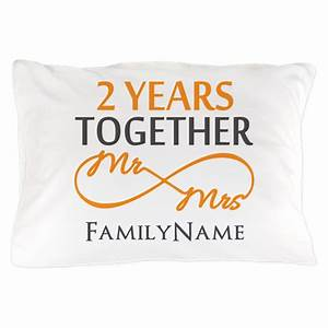gift for 2nd wedding anniversary pillow case by With what is the gift for 11th wedding anniversary