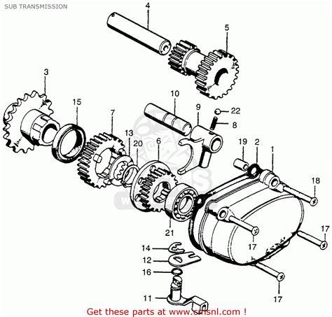 honda ct90 trail 1974 usa sub transmission buy sub transmission spares online