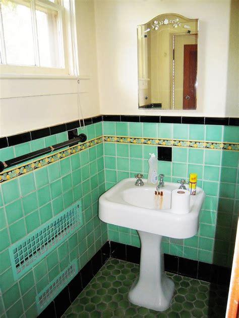 green turquoise tile  black trim   wide pedestal