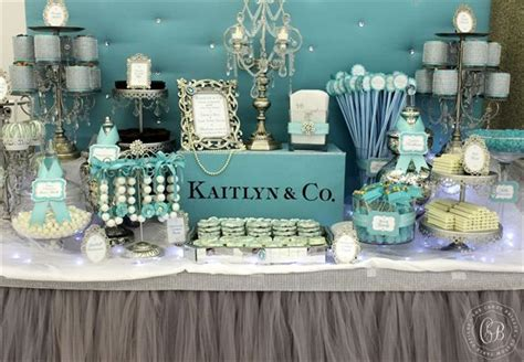 tiffany buffet table ls tiffany themed dessert table the candy brigade candy