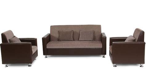sofa set 3 teilig buy browntulip sofa set 3 1 1 seater by arra sofa sets sofas pepperfry