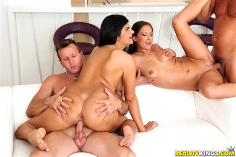 Two Naughty Girls Are Having A Foursome MILF Fox