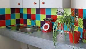 Stickers Carreaux Cuisine : sticker carrelage cuisine uni ~ Preciouscoupons.com Idées de Décoration