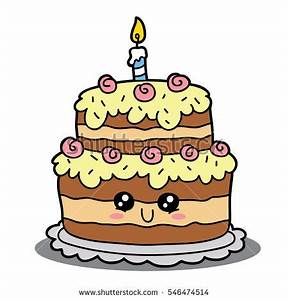Cartoon Birthday Cake Vector Cartoon Illustration Stock ...