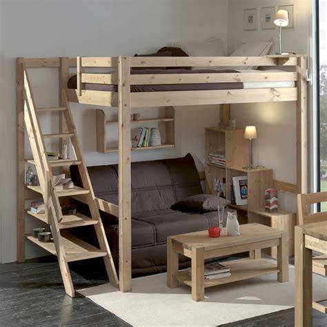 lit bureau ikea mezzanine loft en pin massif