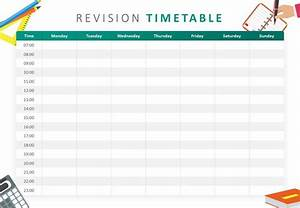 Daily Calendar Template Printable Revision Timetable Powerpoint Template Revision