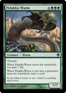 pelakka wurm rise of the eldrazi gatherer magic the