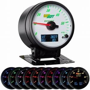3in1 White Glowshift Diesel Combo Boost Pyrometer Fuel