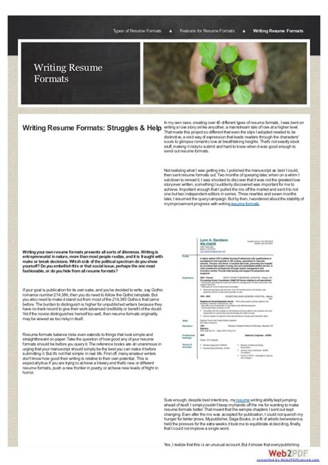 Type Resume In Microsoft Word by Microsoft Word Resume Formats Types