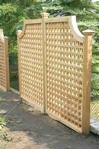 Lattice Privacy Screen Fence