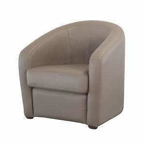 Fauteuil cabriolet taupe maison design wibliacom for Fauteuil cabriolet cuir