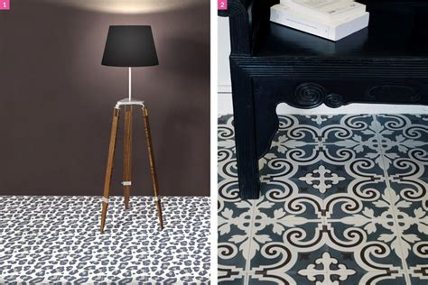 carreau de ciment lopard  tapis lino imitation
