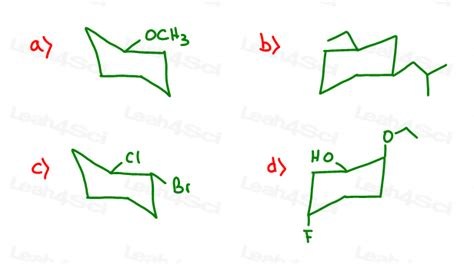 chair cyclohexane ring flip cyclohexane chair conformations organic chemistry practice