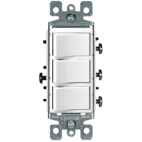 Leviton Decora Amp Rocker Combination Switch White