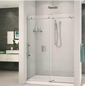 Frameless Sliding Shower Door Hardware Track Kit 8 Ft