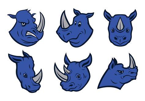 free rhino logo vector download free vector art stock