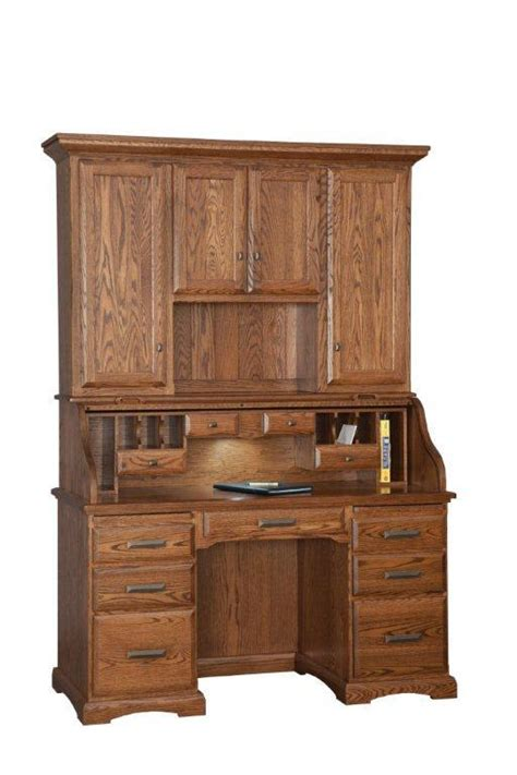desk with hutch top amish roll top desk with hutch