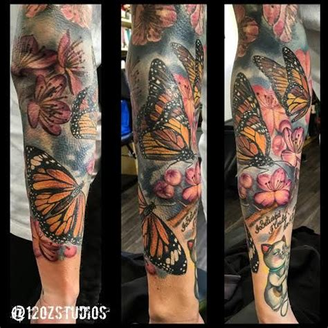 full sleeve tattoos floral backgrounds  full sleeves