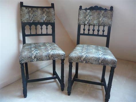 chaise henri 2 chaise henri ii relookée avec une couverture peau de