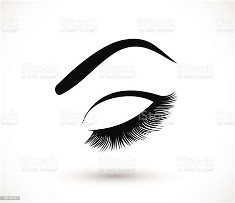 500x278 brow design logo business card template with hand drawing eyebrow 500x500 how to make ideal brow. Eyelashes And Eyebrows Vector Illustration Stock ...