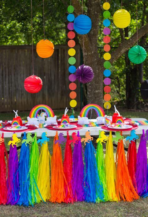 hazel s rainbow unicorn birthday
