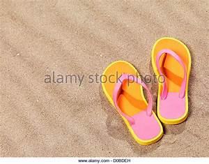 Flip Flops On Beach Stock Photos & Flip Flops On Beach ...
