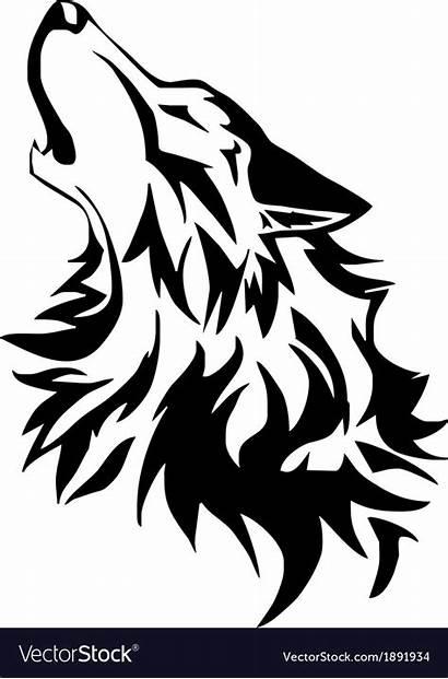 Wolf Tribal Vector Vectors Vectorstock Royalty