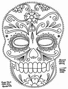 la calavera catrina coloring page coloring pages With day of the dead skull mask template